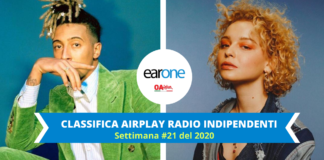 airplay canzoni indie earone: millie turner sale sul podio, Ghali stabile al vertice